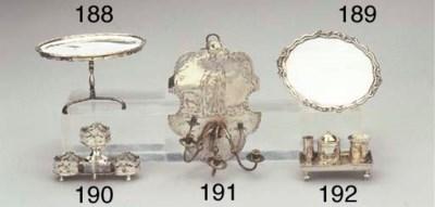 A Dutch silver miniature tray