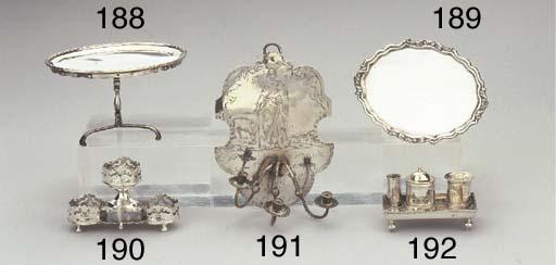 A Dutch silver miniature inkst