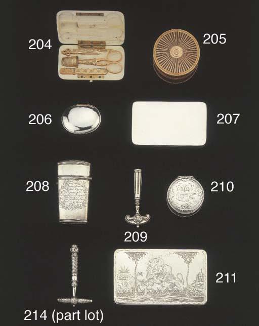 A Dutch silver small snuff box