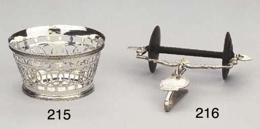 A small Dutch silver basket