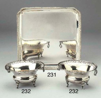 A pair of Dutch silver sweet m