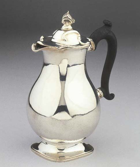 A Dutch silver coffee-pot
