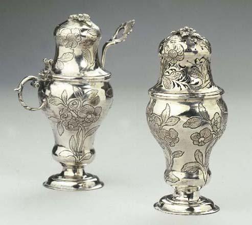 A German silver mustardpot and