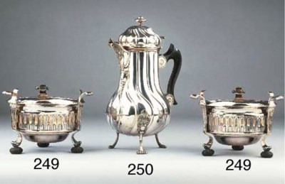 A pair of Belgian silver brazi