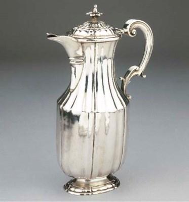 A Spanish silver coffee pot