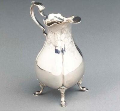 A fine Dutch silver milk jug
