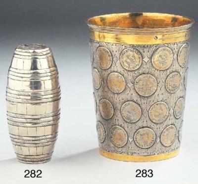 A German silver double-beaker