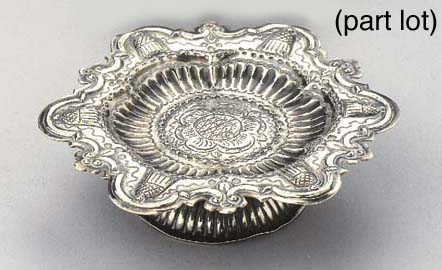Two small Dutch silver dishes