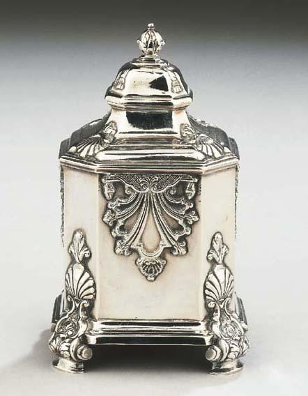 A fine Dutch silver teacaddy
