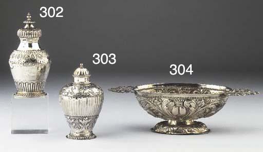 A Dutch silver teacaddy