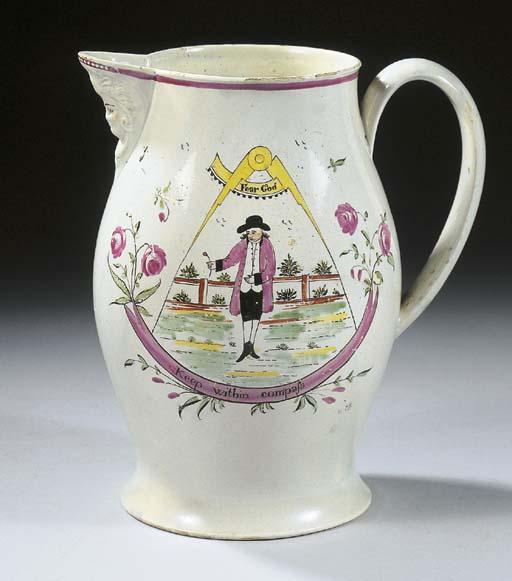 A Liverpool creamware masonic
