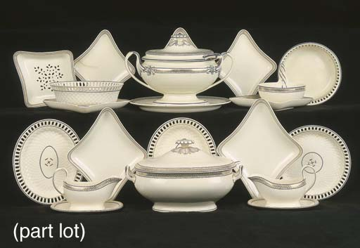 An extensive Wedwood creamware