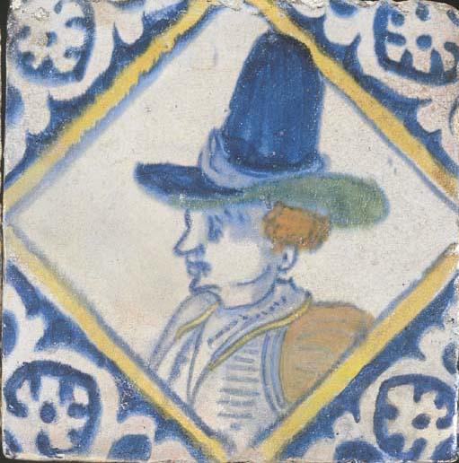 A Dutch polychrome portrait ti