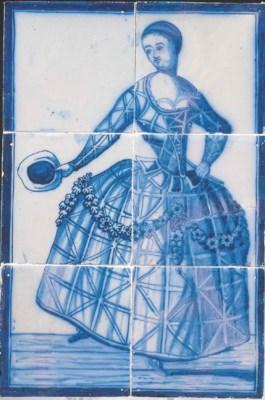 A Rotterdam blue and white Com