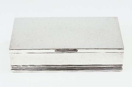 A Danish silver cigar box