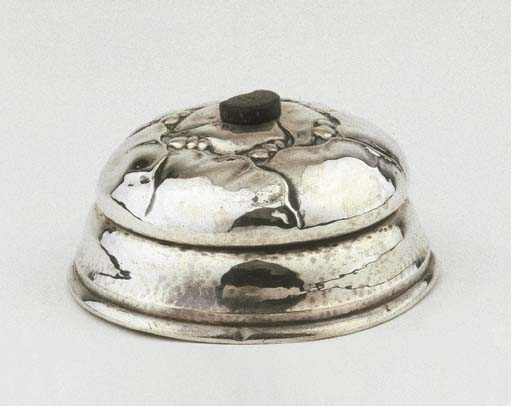 A Danish silver table bell