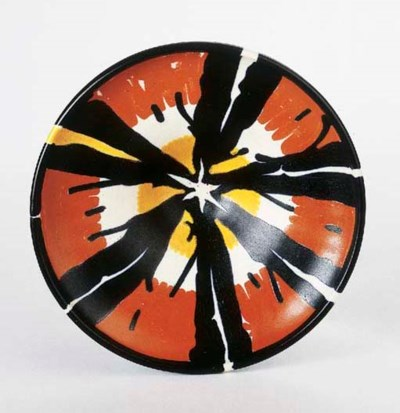 A glazed pottery bowl