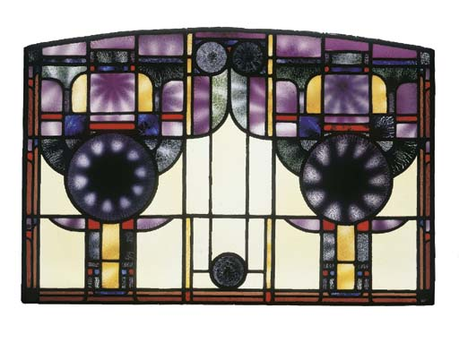A Vitrica leaded glass window