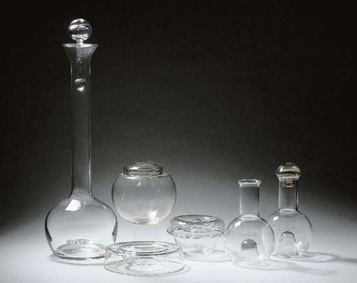 A selection of clear glass tab