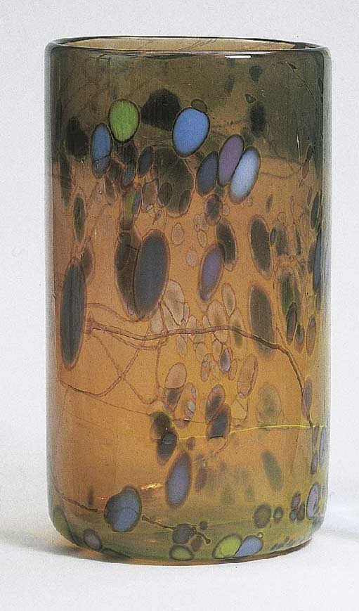 An internally decorated glass