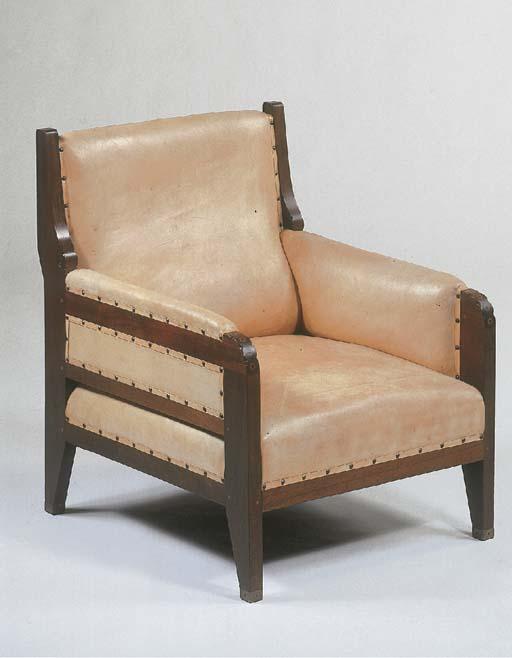 A mahogany easychair