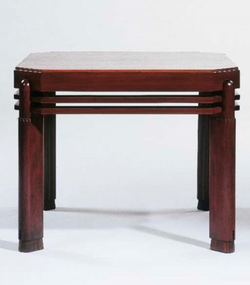 A mahogany coffeetable