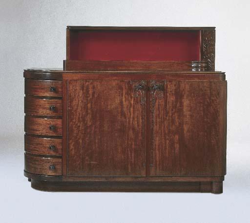 A mahogany sideboard