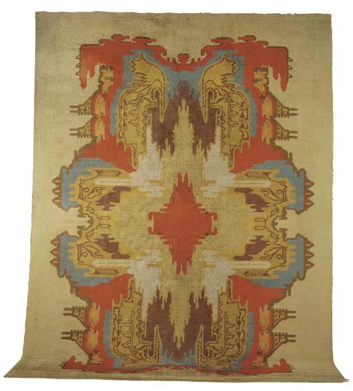 A large woven woollen Smyrna c