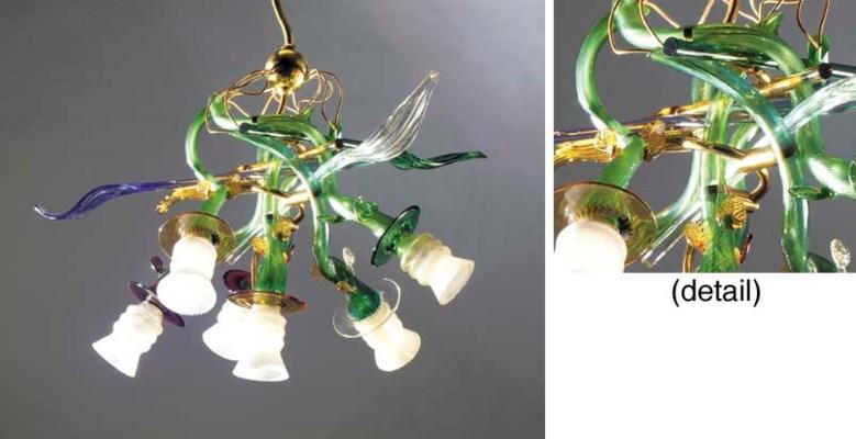 Luigi I, a six light glass cha