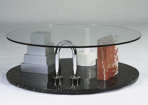Park, a marble and metal coffe