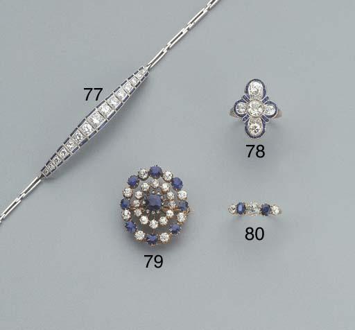 A DIAMOND AND SAPPHIRE BRACELE