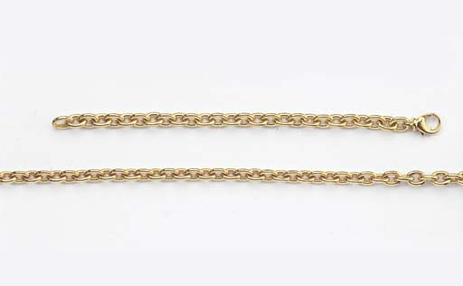 AN 18K GOLD NECKLACE AND BRACE
