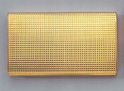 A GOLD CIGARETTE CASE AND LIGH