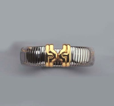 BULGARI. A GOLD AND STAINLESS