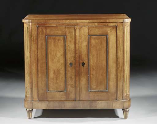 A Biedermeier parcel-gilt and