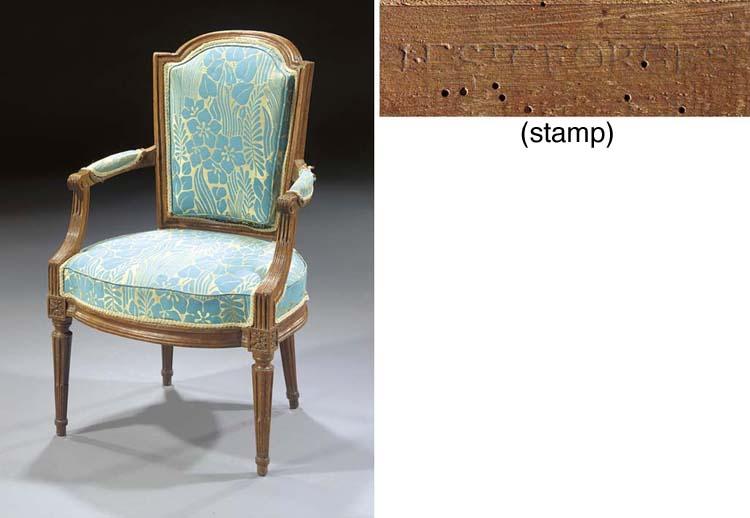 A Louis XVI beechwood armchair