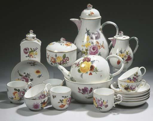 A Meissen porcelain composite