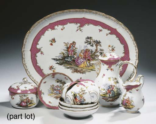 A collection of German porcela