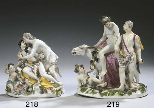 A Meissen porcelain group of J