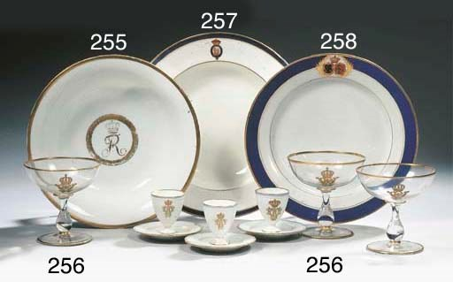 Twelve Berlin KPM porcelain ro