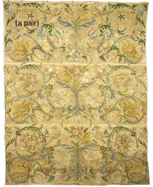 A pair of english silk and met