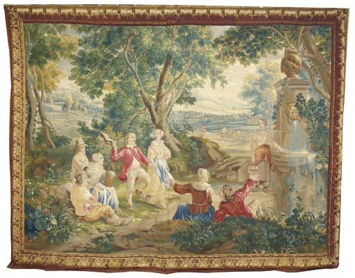 A Brussels pastoral tapestry