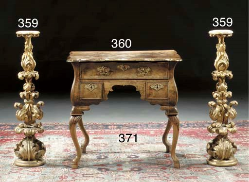 A Dutch burr-walnut commode