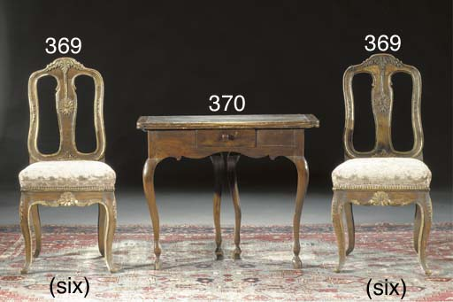 A set of six German stained be