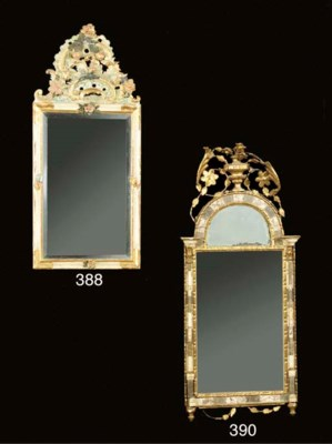 A German giltwood and marble m
