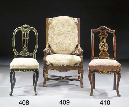 A beechwood fauteuil