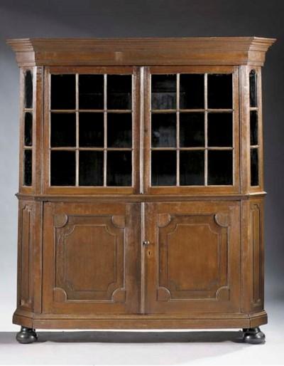 A Dutch oak display case