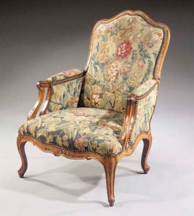 A Dutch walnut bergere