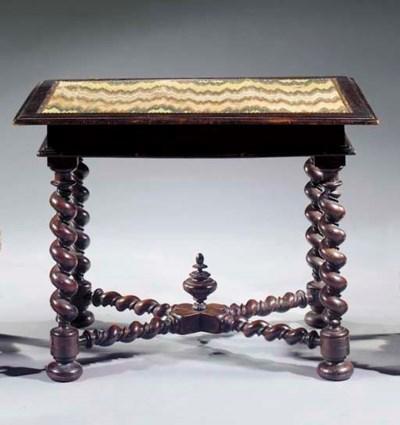 A Flemish walnut centre table