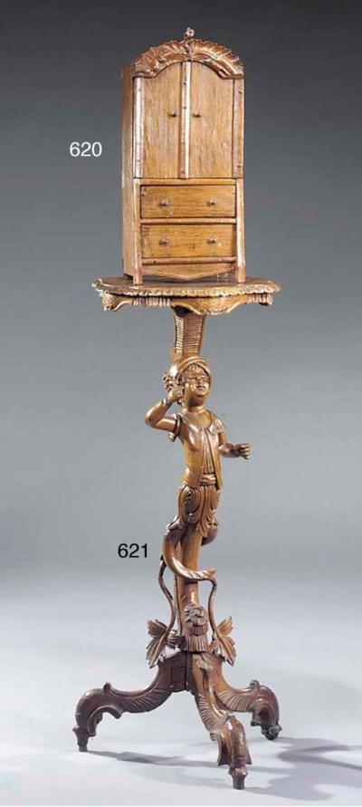 A Venetian walnut torchere